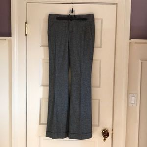 Herringbone pattern wide- legged pants